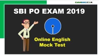 Photo of (2019*) SBI PO English Mock Test | Online Free Mock Test