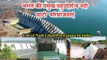 List of Nadi Ghati Pariyojana