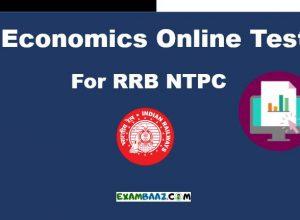Economics Online Test For RRB NTPC