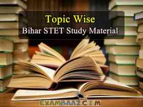 Bihar STET Study Material in Hindi Topic Wise