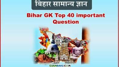 Photo of GK Question of Bihar In Hindi || Bihar GK