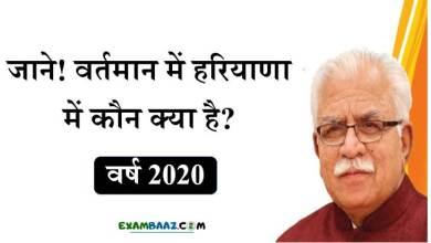 Photo of [New*] Haryana Me Kon Kya Hai 2020: वर्तमान में हरियाणा में कौन क्या है?