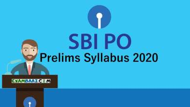 Photo of Latest SBI PO Prelims Syllabus 2020 PDF Download