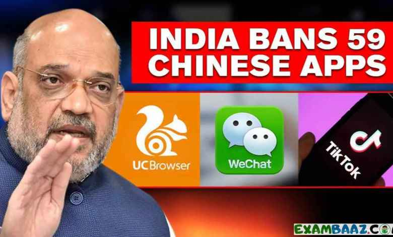 List of 59 CHINESE APPS BANNED BY Indian GOVT