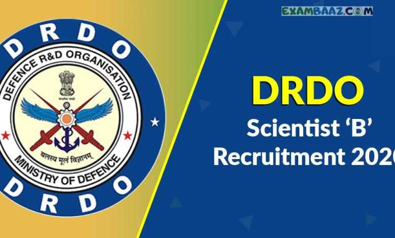 DRDO Scientist Recruitment 2020 Registration will be Close on 10th July: Apply Now @rac.gov.in, Before the last date of application