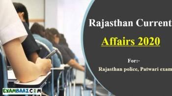 Rajasthan Current Affairs 2020 In Hindi: