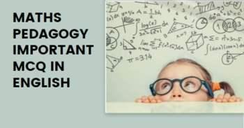 CTET Maths Pedagogy Questions In English