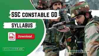 SSC Constable GD Syllabus 2021 in Hindi-English