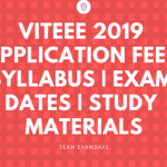 VITEEE 2019 Applications Out Syllabus Exam dates Study Materials