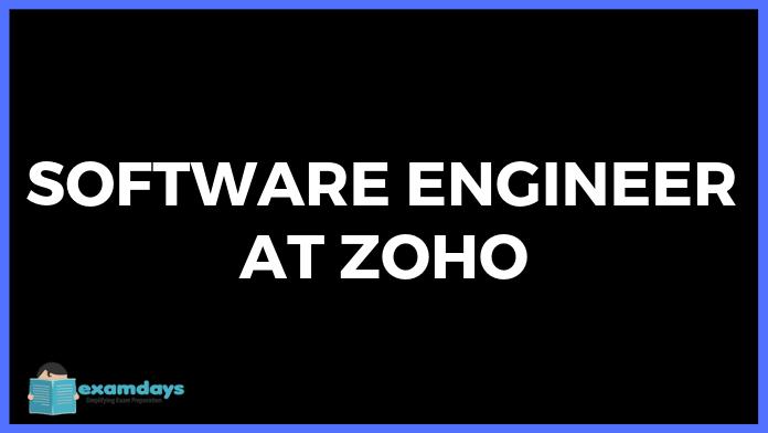 Software Engineer at Zoho   B E/B Tech/MCA Freshers   3 Laksh   Chennai