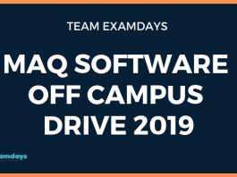 MAQ Software Off Campus Drive 2019