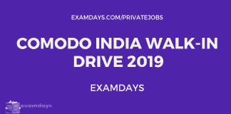 Comodo India Walk-In Drive 2019
