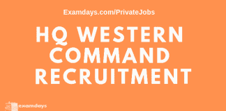HQ Western Command Recruitment