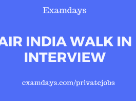 Air India Walk in Interview