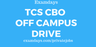 tcs cbo off campus drive