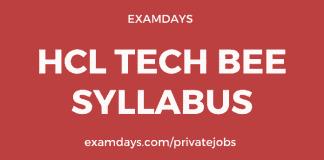 hcl tech bee syllabus
