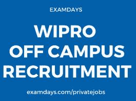 wipro off campus recruitment