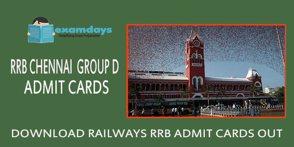 Download RRB Chennai Group D Admit Card