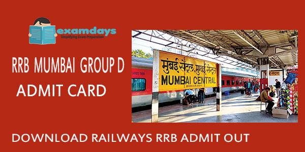Download RRB Mumbai Group D Admit Card