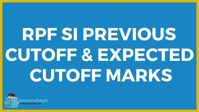 RPF SI Previous Cutoff and Expected Cutoff 2018