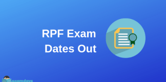 RPF Constable Exam Schedule RPF Exam Date
