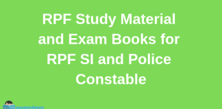 RPF Study Material and Exam Books for RPF SI and Police Constable