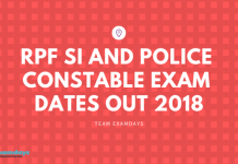 Railways RPF SI and Constable Exam Dates Out