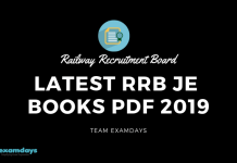 Latest RRB JE Books Pdf 2019