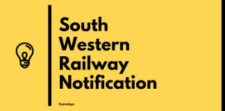 South Western Railway Notification