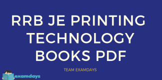 rrb je printing technology book