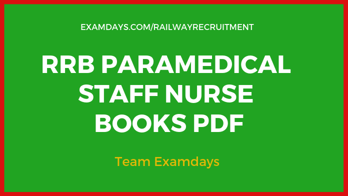 Download RRB Staff Nurse Books PDF 2019