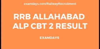 rrb allahabad alp cbt 2 result