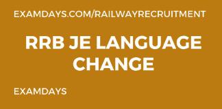 rrb je language change