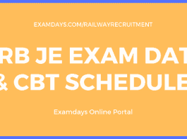 rrb je exam date
