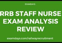 rrb staff nurse paper
