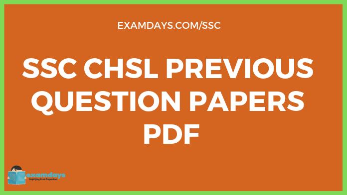 Ssc Chsl Question Papers Pdf