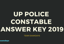 UP Police Constable 2019