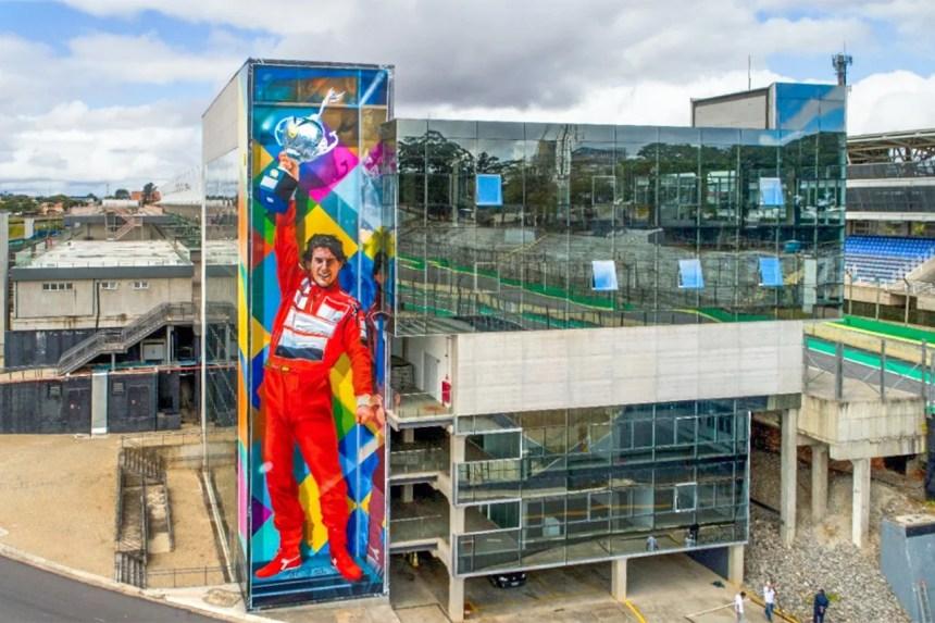 No aniversário de Interlagos, um mural em homenagem a Ayrton Senna | Exame