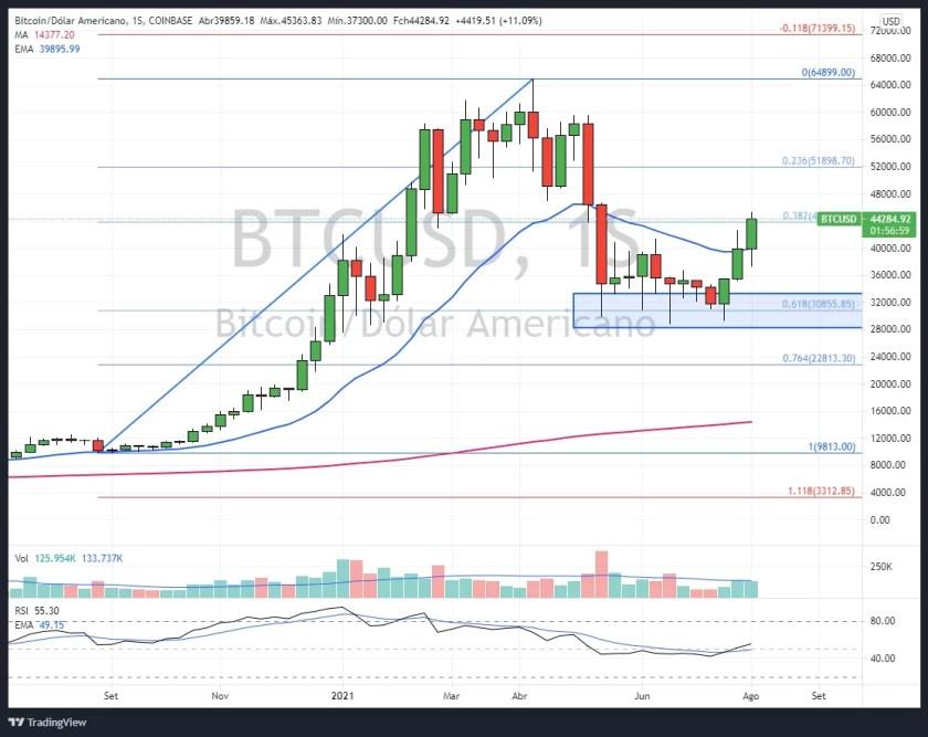 Daily BTC/USD Chart