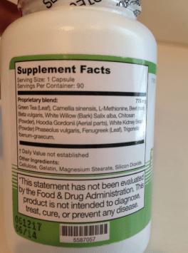 Proshape RX Ingredientes