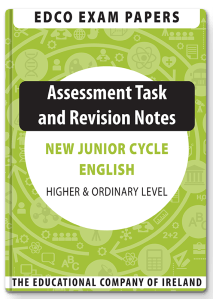 edco exam papers junior cycle english higher and ordinary level assessment task and revision notes