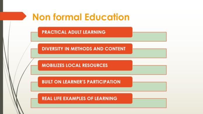 formal and non formal education Data & research on skills beyond school, higher education & lifelong learning inc assessment of higher education learning outcomes, higher education programme, skillls outlook, piaac, vet, the recognition of non-formal and informal learning is an important means for making the 'lifelong learning for all' agenda a reality and.