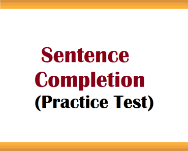 sentence completion practice test