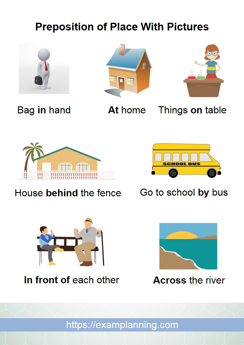 preposition of place with pictures