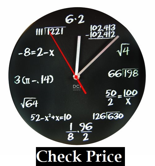 Mathematics Teacher Gift, Wall Clock for Classroom, Home, Office