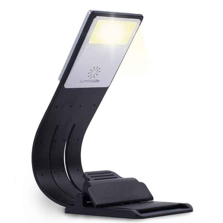 LuminoLite 3000K Warm LED Bookmark Book Reading in Bed