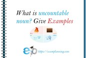 what is uncountable noun and examples