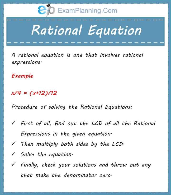 rational equations