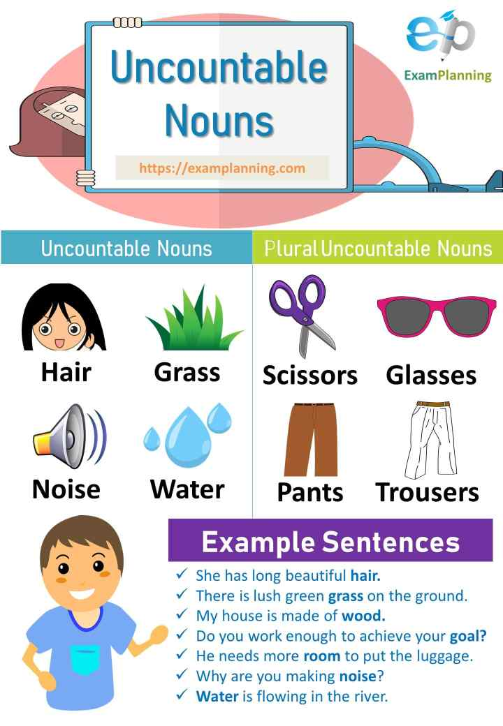 Uncountable Nouns and plural uncountable nouns
