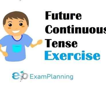 future continuous tense exercises